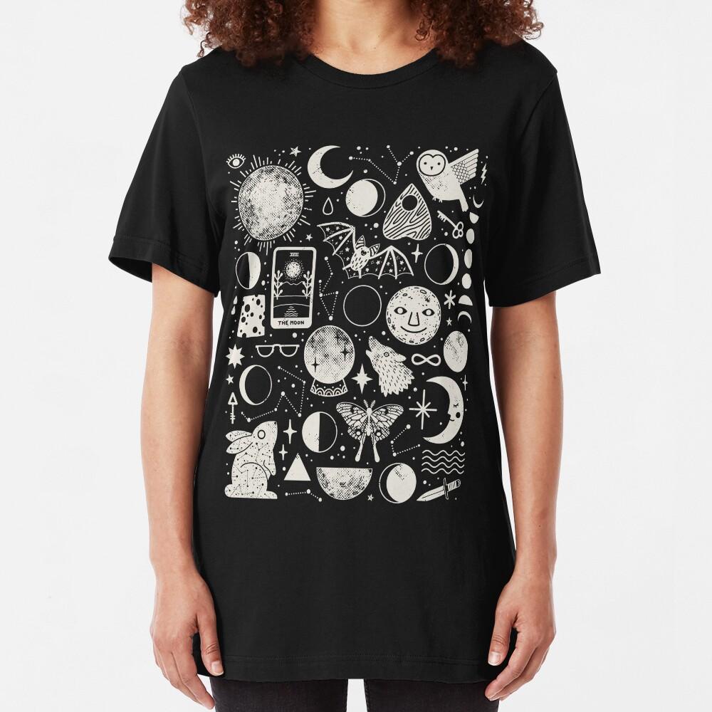Lunar Pattern: Eclipse Slim Fit T-Shirt