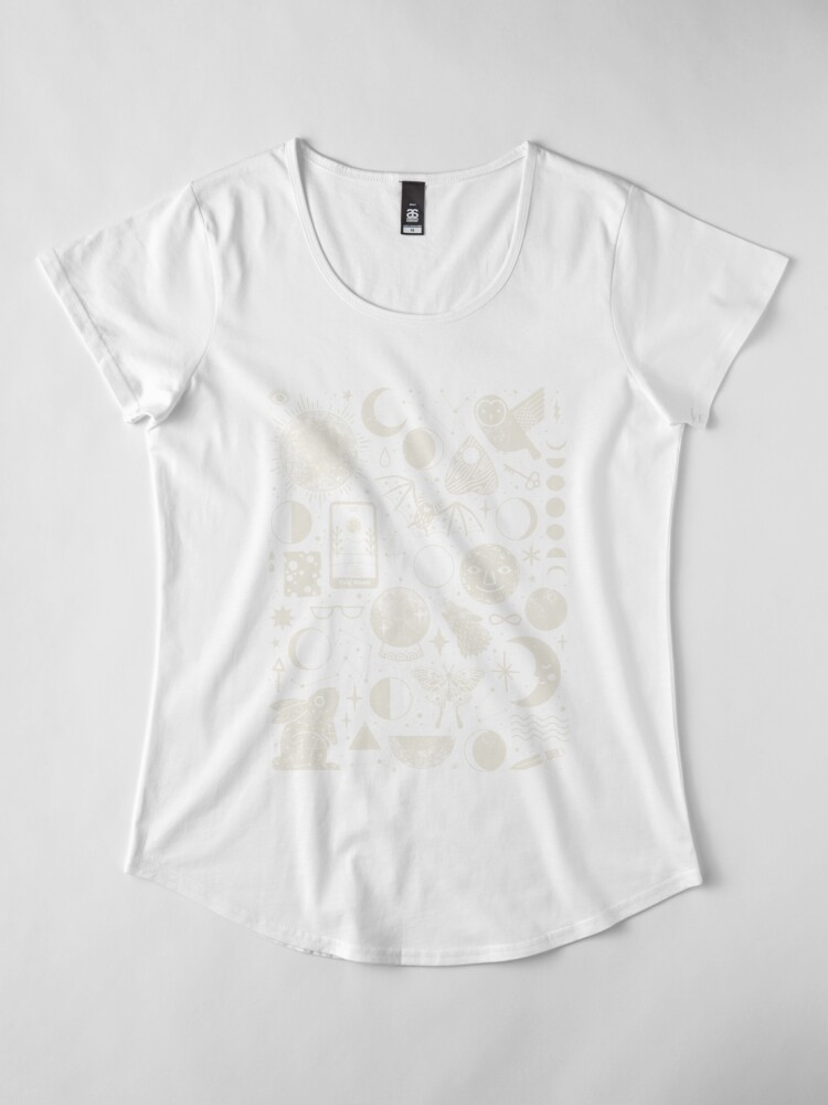 Alternate view of Lunar Pattern: Eclipse Premium Scoop T-Shirt