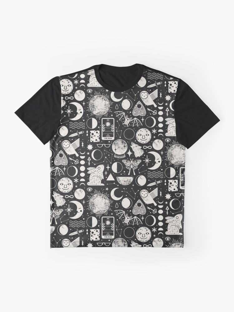 Alternate view of Lunar Pattern: Eclipse Graphic T-Shirt