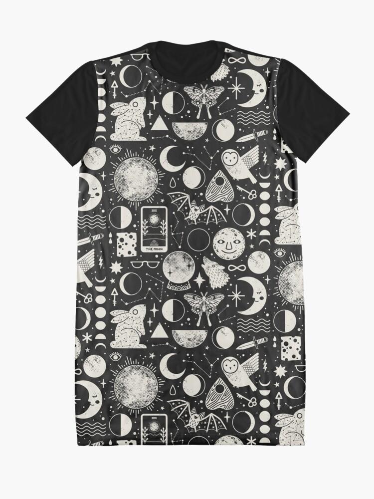Alternate view of Lunar Pattern: Eclipse Graphic T-Shirt Dress