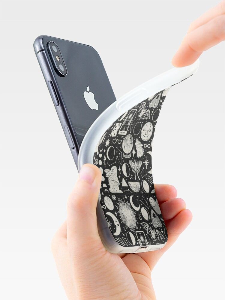 Alternate view of Lunar Pattern: Eclipse iPhone Case & Cover
