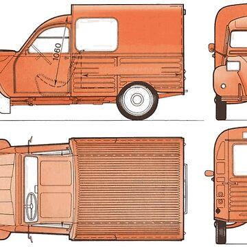 Vintage 2cv Van | Cars by koovox