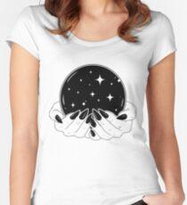 Camiseta entallada de cuello ancho Bola de cristal
