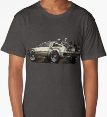 Back to the future Delorean Brown | Car | Cult Movie Long T-Shirt