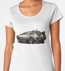 Back to the future Delorean Brown   Car   Cult Movie Women's Premium T-Shirt