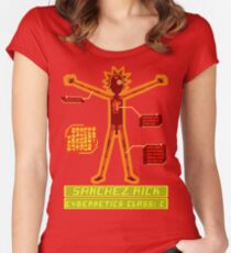 Rick And Morty  - Class  C or Above Cybernetics Women's Fitted Scoop T-Shirt