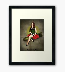 Atomic Girl Bombshell Noseart Framed Print
