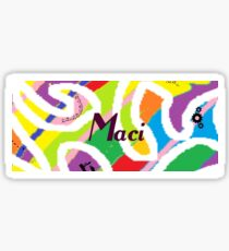 Maci -original artwork to personalize your gift Sticker