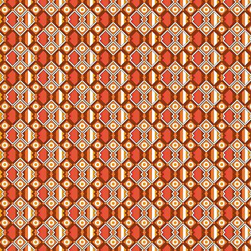 Seamless wire fence brown and orange pattern by Pacoredbubble