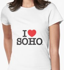 I Love Soho Official Merchandise @ilovesoholondon Women's Fitted T-Shirt