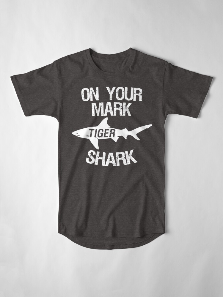 Alternate view of On Your Mark Tiger Shark - Barron Tshirt Long T-Shirt