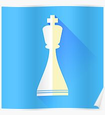 King Chess Icon Poster