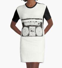 Boombox Graphic T-Shirt Dress
