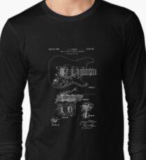 Fender Guitar Patent Poster, Music Decor, Guitar Art, Guitar Decor, Patent Print Poster Wall Decor, Blueprint Long Sleeve T-Shirt