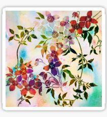 guirlande de fleurs/garland of flowers Sticker
