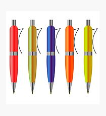 Colorful Pens Photographic Print