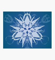 Cool White Geometric Triangle Design Photographic Print