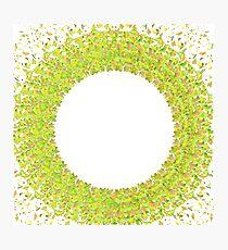 Confetti Circle Photographic Print