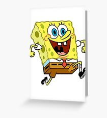 Spongebob Squarepants Greeting Card