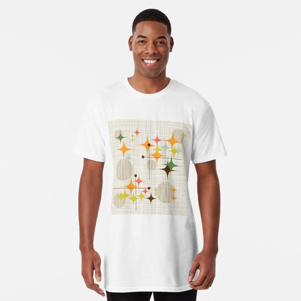 Eames Era Starbursts y Globes 3 (bkgrnd) Camiseta larga