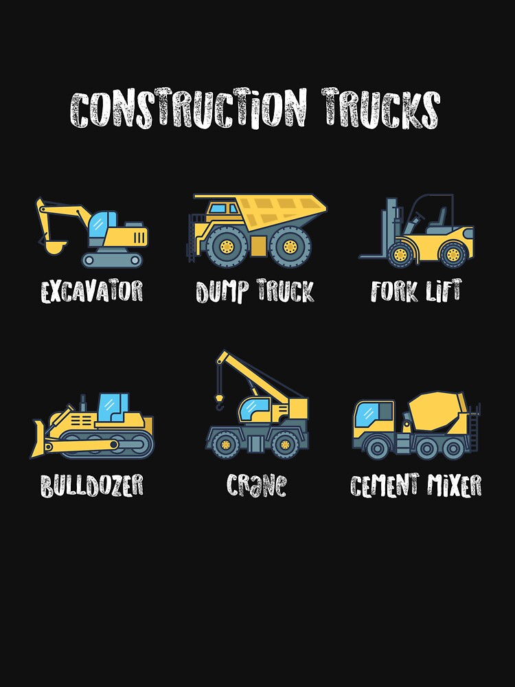 Construction Site Trucks with Names by albertellenich