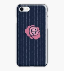 McGregor Mayweather LA Presser - Pink Rose Fuck You Pinstripe iPhone Case/Skin