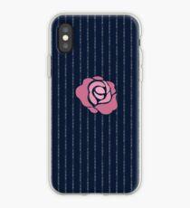 McGregor Mayweather LA Presser - Pink Rose Fuck You Pinstripe iPhone Case
