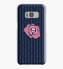 McGregor Mayweather LA Presser - Pink Rose Fuck You Pinstripe Samsung Galaxy Case/Skin