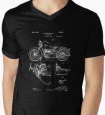Harley Davidson Model JD Patent Poster, Motorcycle Print, Harley Davidson Poster, Motorcycle Art, Blueprint Men's V-Neck T-Shirt