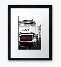 1971 Oldsmobile 442 detail - High Contrast Framed Print