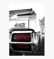 1971 Oldsmobile 442 detail - High Contrast Photographic Print