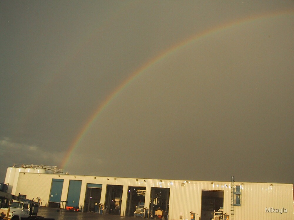 Prudhoe Bay Double Rainbow by Mikayla