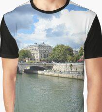 Bridge over the River Seine Graphic T-Shirt