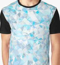 Polygonal frost print Graphic T-Shirt