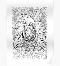 Worksheets Endangered Species Poster Endangered Species And Beautiful Pets Endangered Species Drawing Posters Redbubble