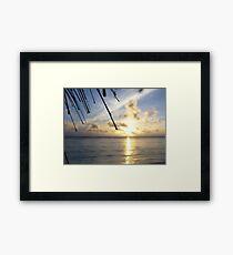 Rarotonga sunset Framed Print