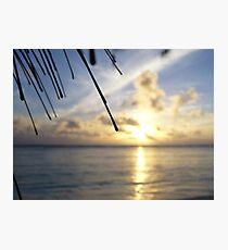 Rarotonga sunset Photographic Print