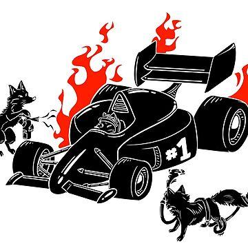 Formula 1 Fox by Steampoweredfox
