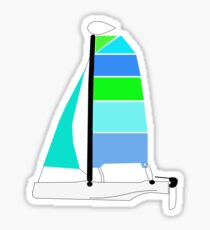 Blue Catamaran Sticker