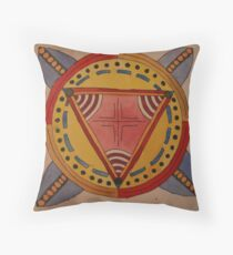 geometric watercolour design #1 Throw Pillow