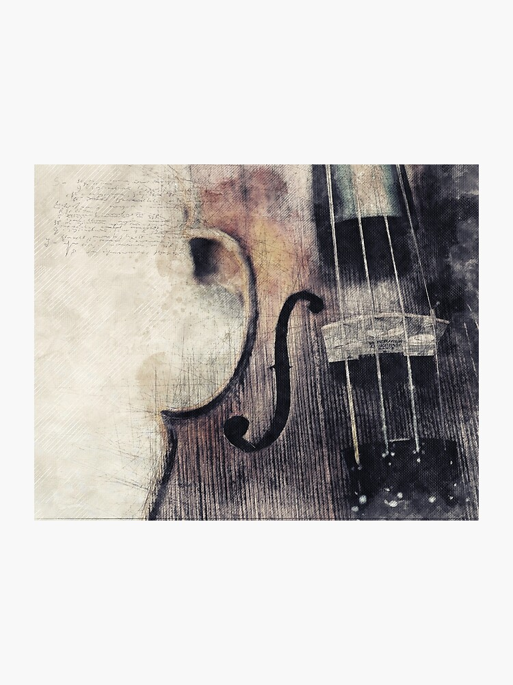 Vintage Violin, Instrument, Orchestra, Music School, Classical Music,  Violinist Gift, Music Teacher Gift | Photographic Print