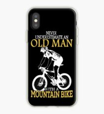Never Underestimate An Old Man With A Mountain Bike iPhone Case