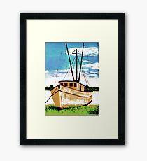 Doc's Boat Framed Print