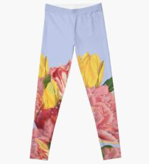 spring flowers with tulips Leggings