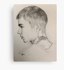 Justin Bieber Drawing.  Canvas Print