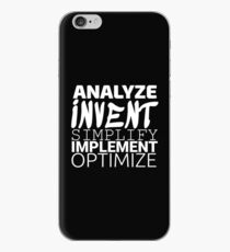 Anything working process slogan. iPhone Case