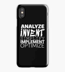 Anything working process slogan. iPhone Case/Skin