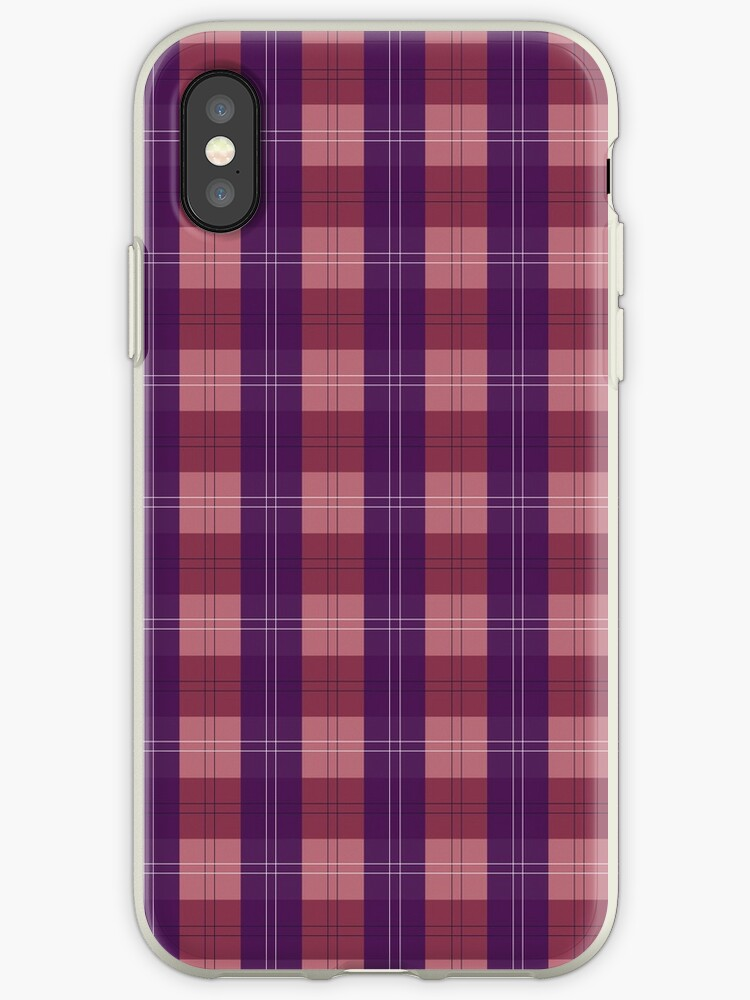 save off ee077 0aa9f 'Purple/Pink Plaid' iPhone Case by Katie-Shoultz