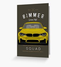 Bimmer Squad Greeting Card