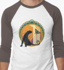 Art Deco Jaguar Flowers Men's Baseball ¾ T-Shirt